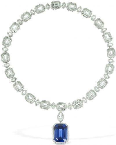 Biały złoty naszyjnik z diamentem Atelier Swarovski