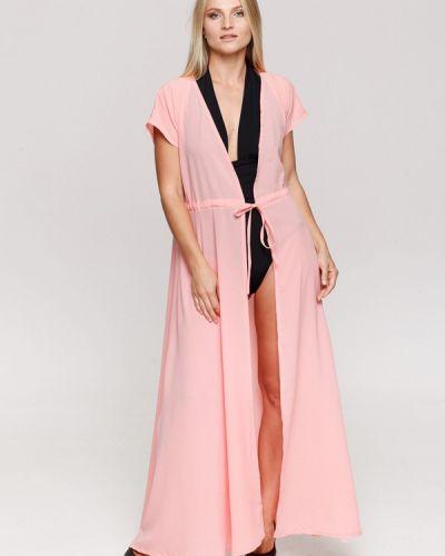 Пляжное платье розовое осеннее Karree