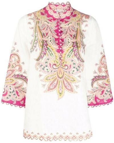 Różowa koszula Zimmermann