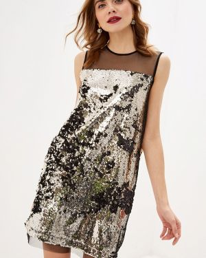 Вечернее платье осеннее золотой Sela