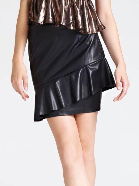 Czarna spódnica z falbanami Guess