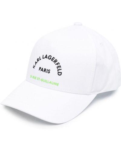 Bawełna zielony bawełna czapka baseballowa Karl Lagerfeld
