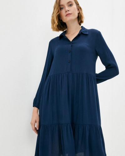 Синее зимнее платье Raya