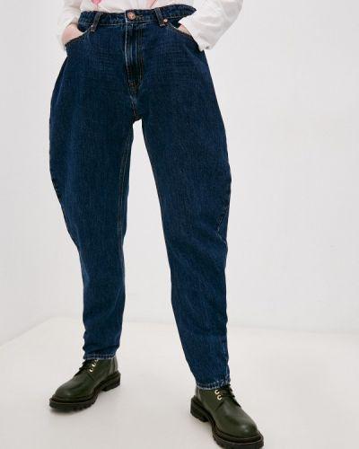 Синие расклешенные широкие джинсы One Teaspoon