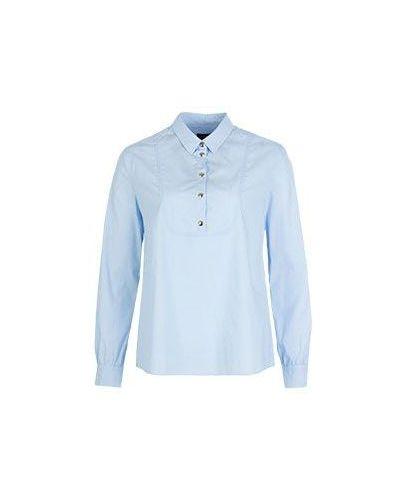 Голубая рубашка хлопковая Armani Jeans