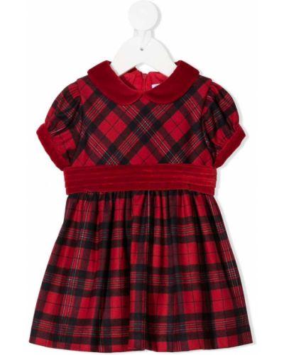 Красное прямое платье с рукавами с воротником на молнии Patachou