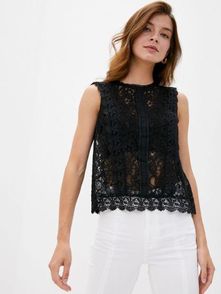 Черная кружевная блузка Pimkie