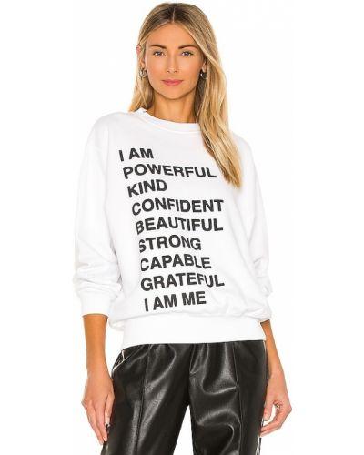 Biała bluza bawełniana z printem Anine Bing