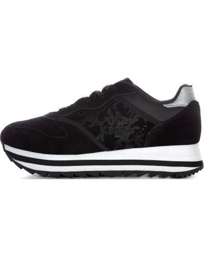 Кроссовки замшевые черные Kappa