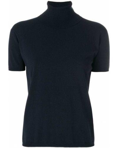 Синяя футболка прямая из вискозы 's Max Mara