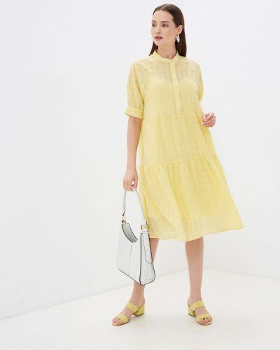 Прямое желтое платье А-силуэта Ichi