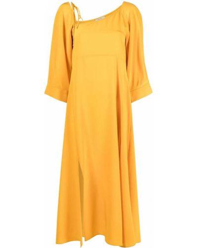 Шелковое платье - желтое Dorothee Schumacher
