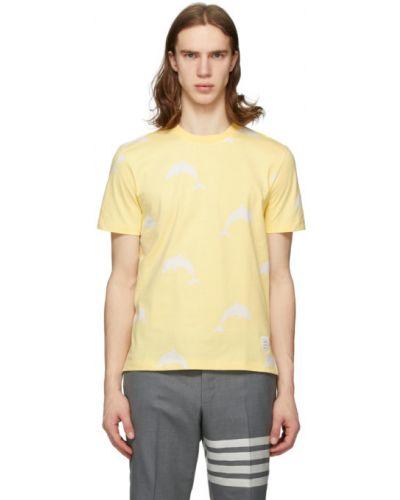 Koszula krótkie z krótkim rękawem z logo żółty Thom Browne
