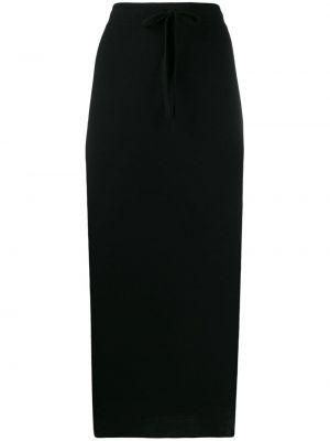 Шерстяная юбка миди - черная Pringle Of Scotland