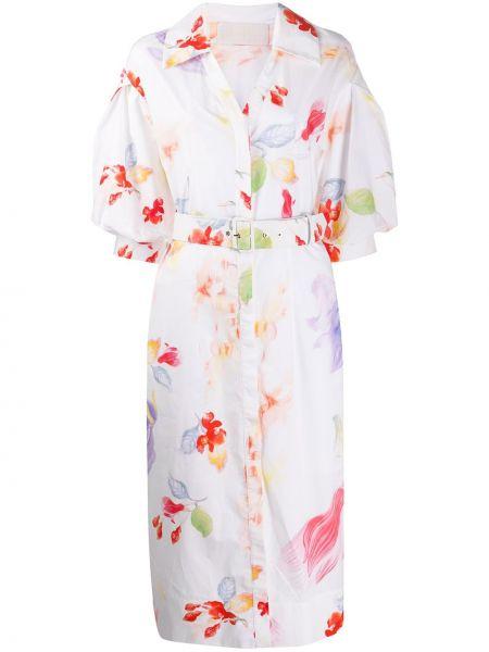Платье с поясом с цветочным принтом с V-образным вырезом Peter Pilotto