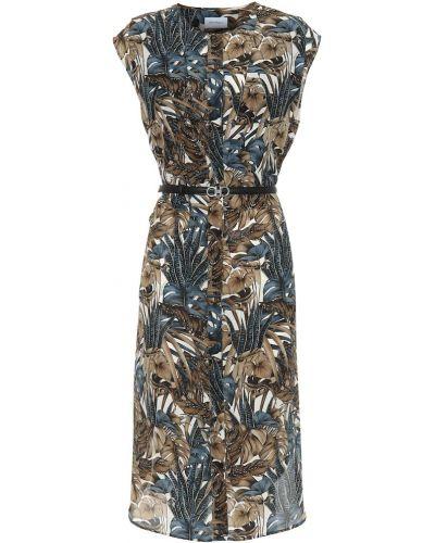 Платье с поясом шелковое итальянский Salvatore Ferragamo