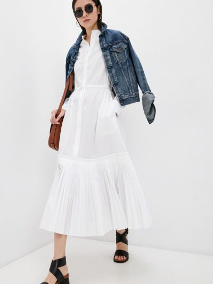 Повседневное белое платье Polo Ralph Lauren