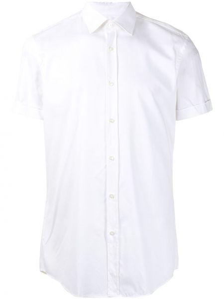 Bawełna koszula z mankietami z kołnierzem Boss