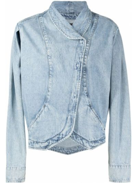 Bawełna bawełna niebieski jeansy z kołnierzem Isabel Marant