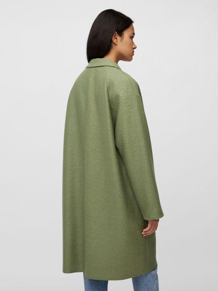 Зеленое шерстяное пальто с воротником Marc O'polo