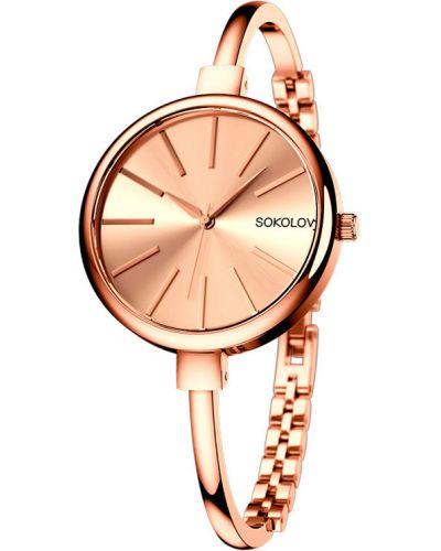 Кварцевые часы - серые Sokolov
