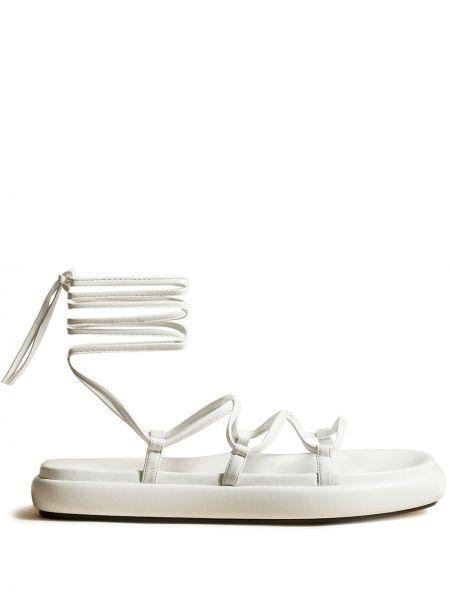 Białe sandały peep toe Khaite