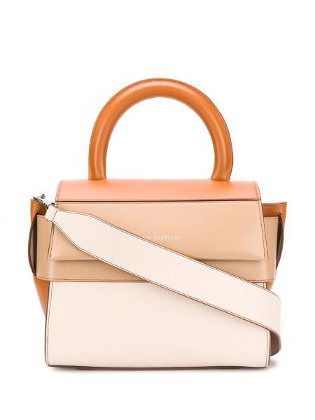 Кожаная сумка-тоут на молнии Elena Ghisellini