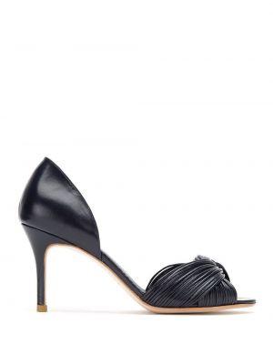 Туфли-лодочки с открытым носком черные Sarah Chofakian