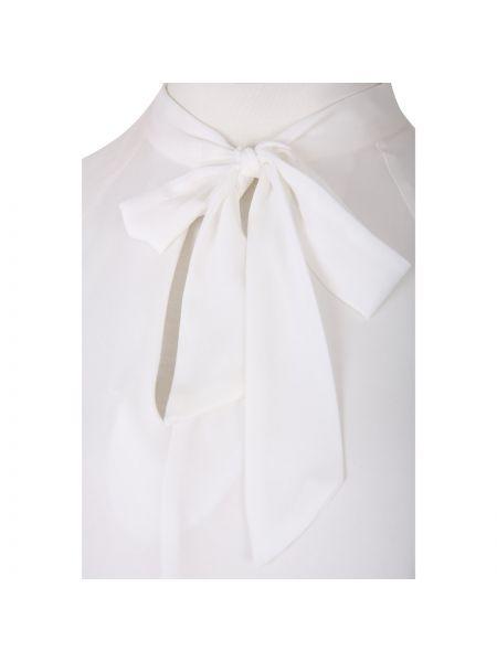Прямая блузка с длинным рукавом с бантом с длинными рукавами круглая Mat Fashion