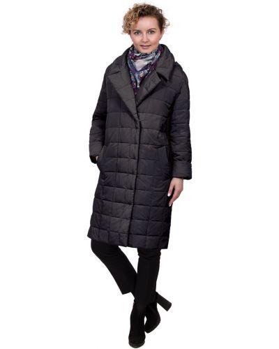 Пальто с капюшоном оверсайз с воротником J-splash