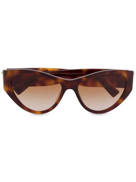 Солнцезащитные очки хаки Valentino Eyewear