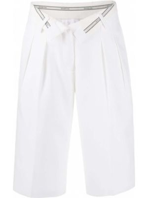 Białe szorty wełniane zapinane na guziki Alexander Wang