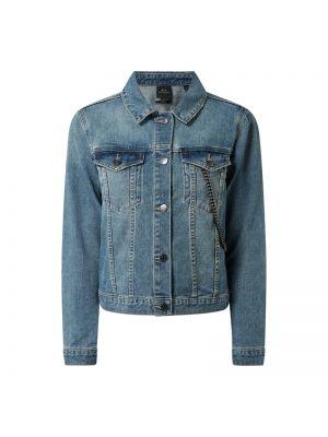 Niebieski bawełna kurtka jeansowa z kołnierzem Armani Exchange