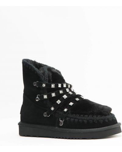 Кожаные ботинки черные кожаные Bebetoni