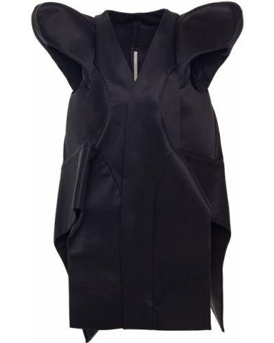Płaszcz bawełniany - czarny Rick Owens