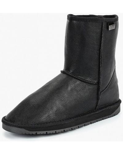 Черные угги кожаные Keddo