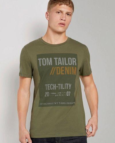 Джинсовая футболка - синяя Tom Tailor Denim