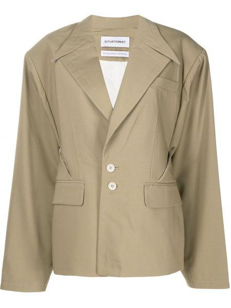 Куртка на пуговицах свободного кроя с воротником с карманами Situationist