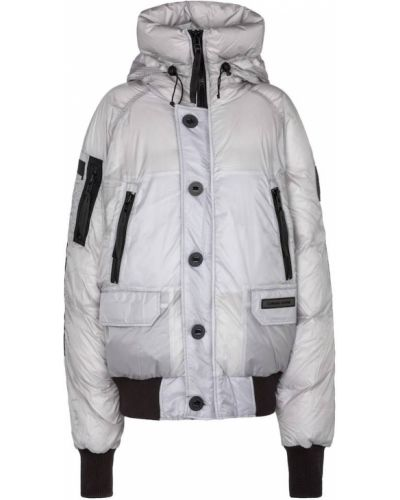 Серебряная пуховая куртка Canada Goose