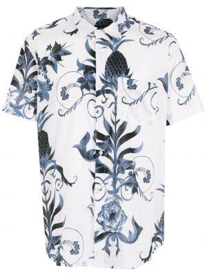 Biała koszula z printem Osklen