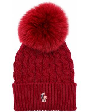 Fioletowy kapelusz wełniany Moncler Grenoble