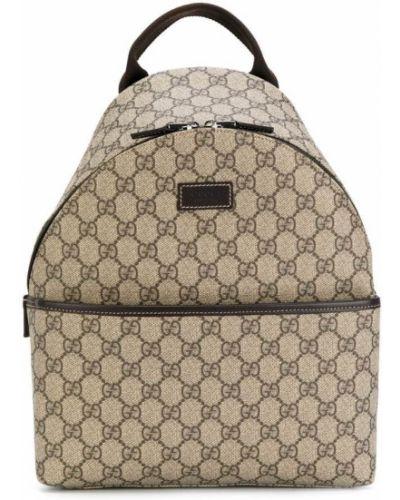 Рюкзак коричневый кожаный Gucci Kids
