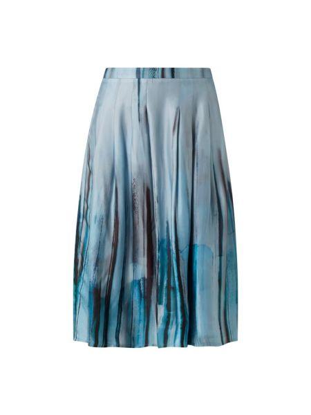Spódnica midi rozkloszowana z wiskozy turkusowa Joseph Janard