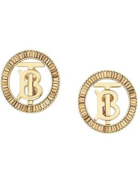 Kolczyki ze sztyftem kolczyki pierścionki ze złota Burberry