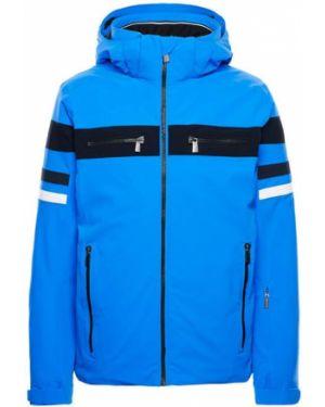 Синяя куртка с капюшоном мембранная на молнии с манжетами Toni Sailer