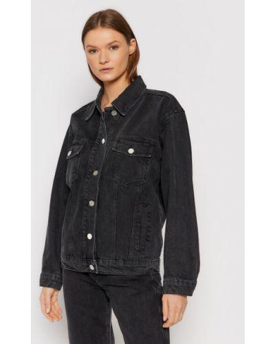 Czarna kurtka jeansowa Gestuz