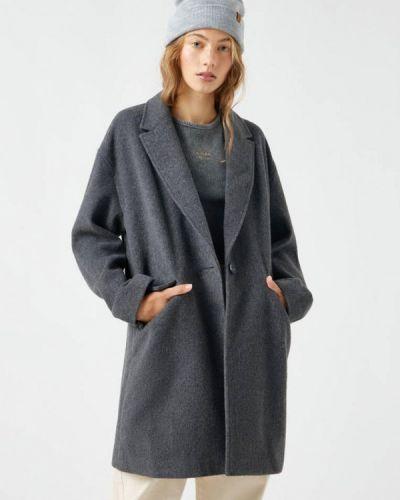 Пальто с медведем - серое Pull&bear