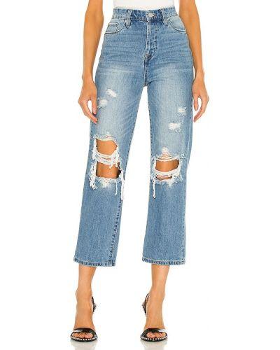 Niebieskie jeansy bawełniane miejskie Blanknyc