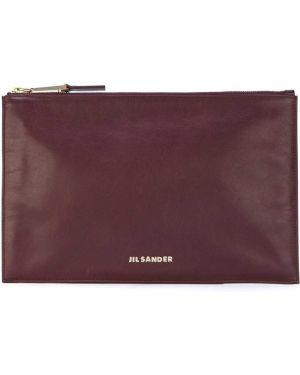 Розовая кожаная сумка Jil Sander Pre-owned