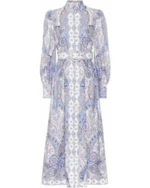 Платье миди на тонких бретелях льняное Zimmermann